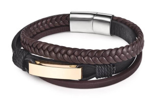 Brown men's bracelet