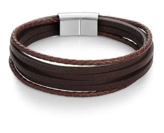 Men's dark brown bracelet