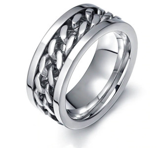 Men's steel ring