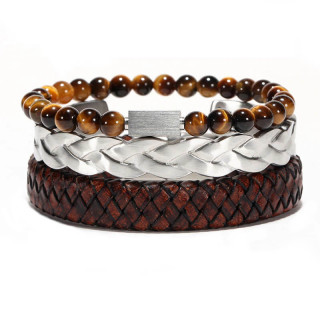 Men's Brown Strap Bracelet