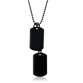 Men's steel necklace