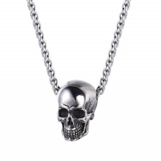Men's silver colored necklace