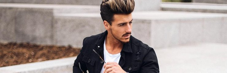 Menswear Look Black Denim Jacket White T Shirt Blue Ripped Jeans